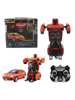 Робот на р/у 2,4GHz, трансформирующийся в легковую машину, красный 1Toy. Цвет: серый