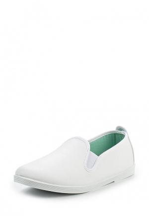 Слипоны Flossy Style. Цвет: белый