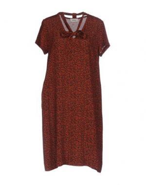 Короткое платье OTTOD'AME. Цвет: красный