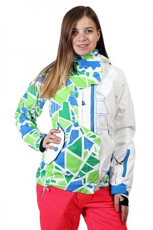 Куртка женская  Jkt True Color White Picture Organic. Цвет: белый