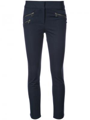 Облегающие брюки с молниями Veronica Beard. Цвет: синий