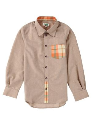 Рубашка Born. Цвет: бежевый, оранжевый