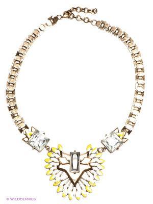 Колье Milana Style. Цвет: золотистый, желтый