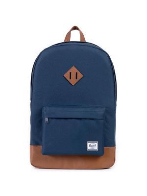 Рюкзак HERITAGE (A/S) Herschel. Цвет: темно-синий,светло-коричневый