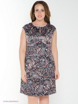 Платье AMAZONE. Цвет: серый, синий