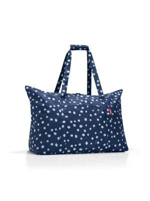 Сумка складная Mini maxi  travelbag spots navy Reisenthel. Цвет: синий