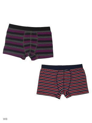 Трусы боксеры для мальчиков 2 шт Oztas kids' underwear. Цвет: синий, белый, зеленый