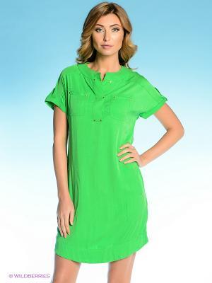 Платье Vilatte. Цвет: салатовый