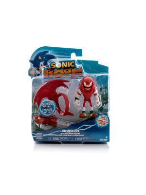 Игрушка Sonic пусковое устройство с фигуркой 7,5 см, Наклз Boom. Цвет: красный