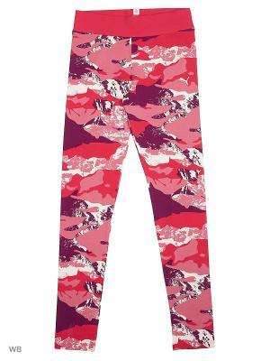 Леггинсы Style AOP Leggings PUMA. Цвет: малиновый