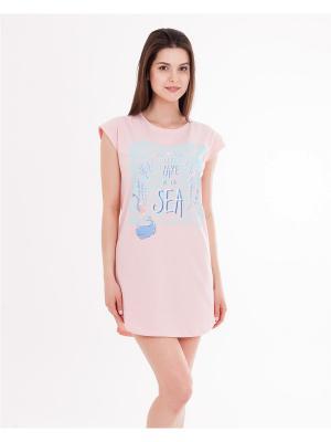 Ночная сорочка Mark Formelle. Цвет: светло-голубой, розовый
