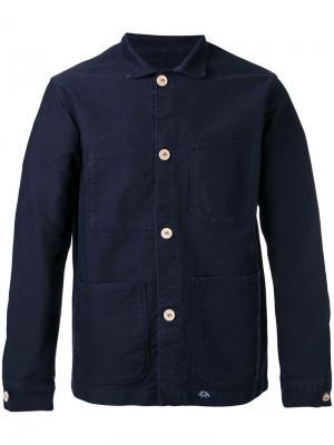 Куртка рубашечного типа Bleu De Paname. Цвет: синий
