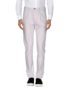 Повседневные брюки BARBA Napoli. Цвет: светло-розовый