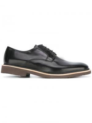 Ботинки дерби Corneliani. Цвет: чёрный