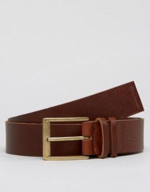 Systvm Кожаный ремень под джинсы с двумя язычками на пряжке. Цвет: коричневый