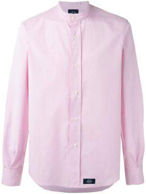 Рубашка кроя слим с воротником-мандарин Bleu De Paname. Цвет: розовый и фиолетовый