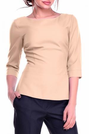 Блуза REBECCA TATTI. Цвет: бежевый