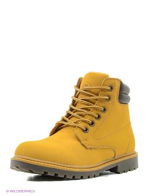 Ботинки Crosby. Цвет: желтый