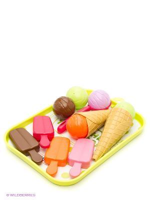 Игровой набор Мороженое, 28,5*19,5*6 см., 1/12 Ecoiffier. Цвет: зеленый, фиолетовый, красный, розовый