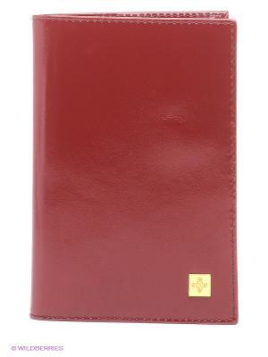 Обложка для паспорта Dimanche. Цвет: темно-красный