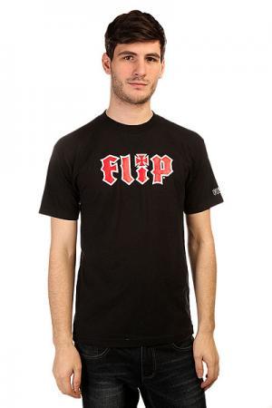 Футболка  Hkd Black Flip. Цвет: черный