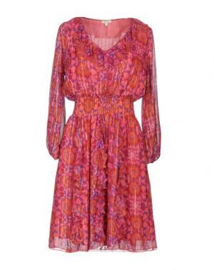 Короткое платье MANOUSH. Цвет: фуксия