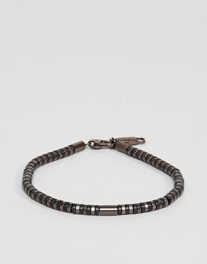 Emporio Armani Коричневый узкий браслет. Цвет: коричневый