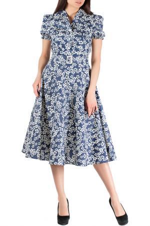 Платье Mannon. Цвет: молочно-синий