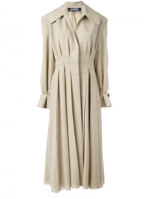 Pleated long coat Jacquemus. Цвет: телесный