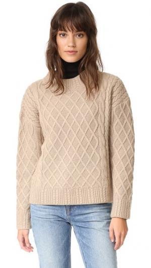 Связанный косичками свитер Odom findersKEEPERS. Цвет: бисквит