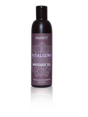 Тонизирующее массажное масло, 250мл ANARITI. Цвет: оливковый