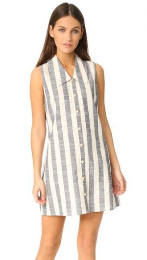 Платье Mia RUKEN. Цвет: белый