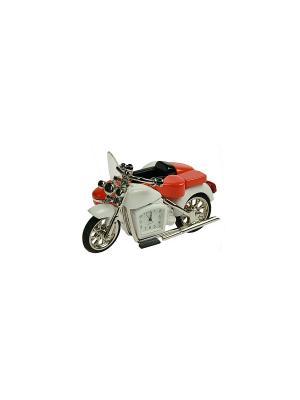 Часы настольные Мотоцикл Русские подарки. Цвет: красный, белый