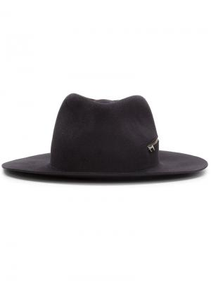 Шляпа Zip Fedora Larose Paris. Цвет: серый