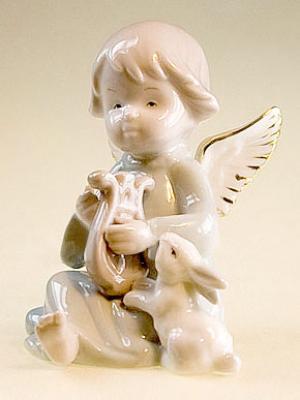 Фигурка Ангелочек Pavone. Цвет: бежевый