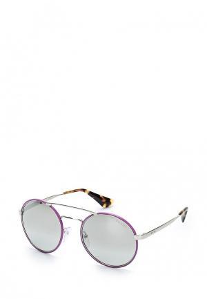 Очки солнцезащитные Prada. Цвет: фиолетовый