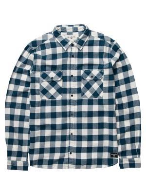 Рубашка ALL DAY FLANNEL LS S (FW17) BILLABONG. Цвет: темно-синий, белый