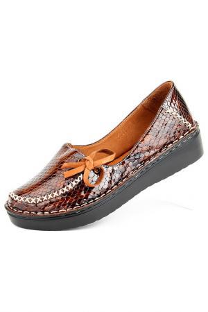 Туфли Norka. Цвет: коричневый