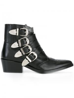 Ботинки с пряжками Toga. Цвет: чёрный