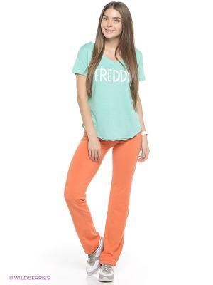 Брюки Freddy. Цвет: оранжевый