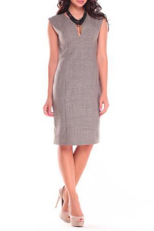 Платье-сарафан Dioni. Цвет: бежевый, хаки