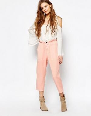 Vanessa Bruno Athé Розовые брюки свободного кроя Athe. Цвет: розовый