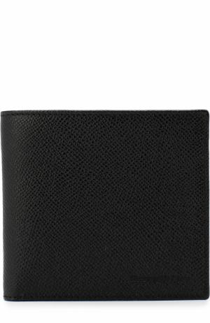 Кожаное портмоне с отделениями для кредитных карт Ermenegildo Zegna. Цвет: черный