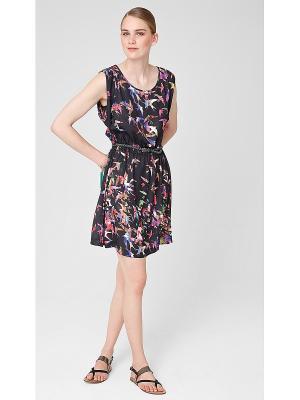 Платье S.OLIVER. Цвет: черный, синий, малиновый