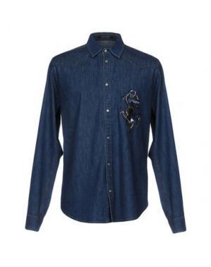 Джинсовая рубашка ROBERTO CAVALLI. Цвет: синий