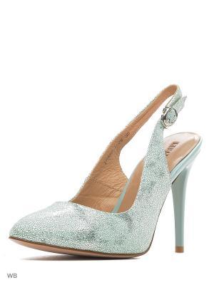 Туфли Renaissance. Цвет: зеленый, серебристый