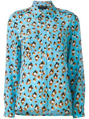 Рубашка с животным принтом Vanessa Seward. Цвет: синий