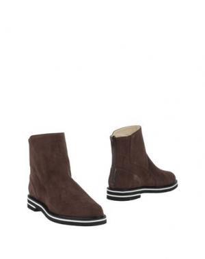 Полусапоги и высокие ботинки PREZIOSO. Цвет: какао