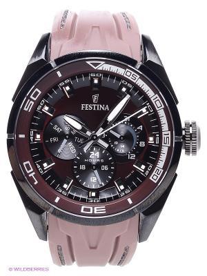 Часы Festina. Цвет: черный, коричневый