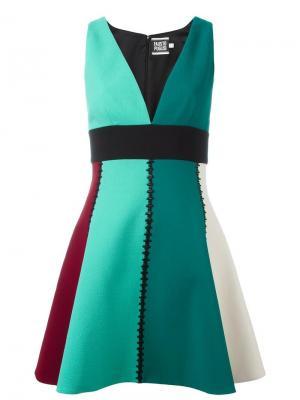 Платье с V-образным вырезом Fausto Puglisi. Цвет: зелёный